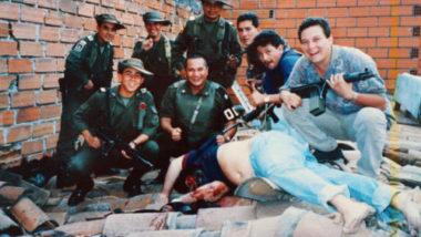El cuerpo baleado de Pablo Escobar